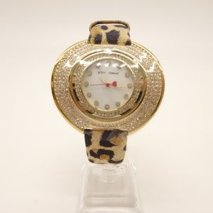 NWT BETSEY JOHNSON Glitz Leopard Watch 